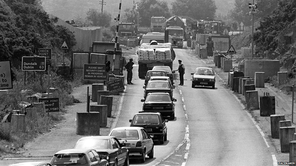 Checkpoint at Cloghogue in Newry