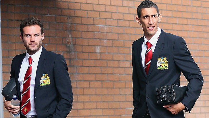 Juan Mata and Angel Di Maria at Turf Moor