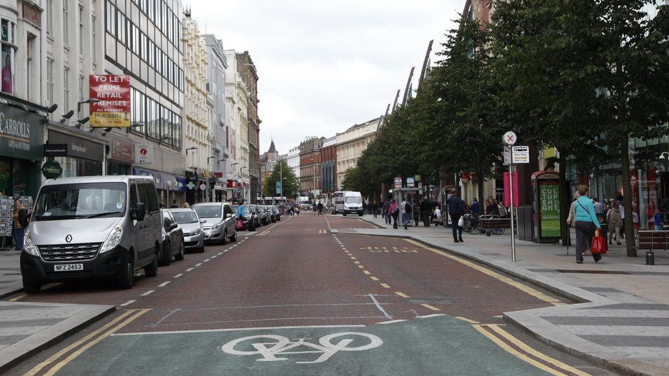 Royal Avenue in Belfast in 2014