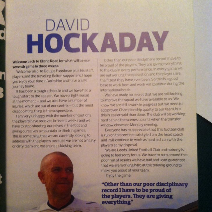 Dave Hockaday programme notes