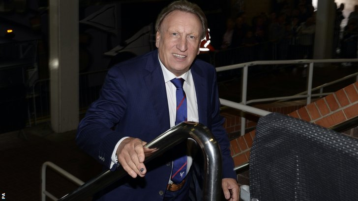 Neil Warnock arrives at Newcastle