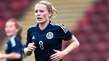 Kim Little playing for Scotland