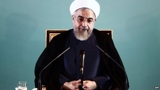 hassan rouhani during a press conference in tehran on august 30 2014