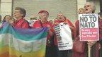 Peace campaigners