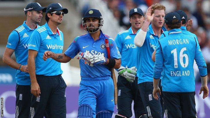 England's Virat Kohli