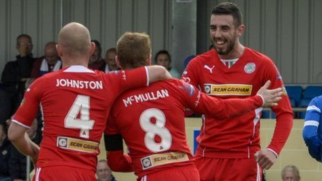 George McMullan scored for Cliftonville from the penalty spot