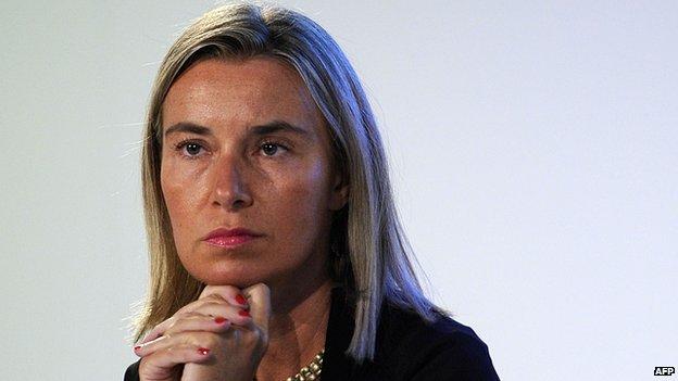Italy's Foreign Minister Federica Mogherini, 30 Aug 14
