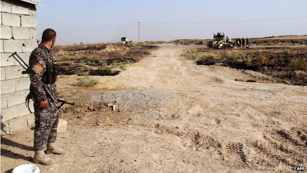 Iraqi and Turkmen Shia fighters in Amerli on 4 August 2014