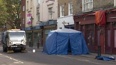 Scene of stabbing on Portobello Road