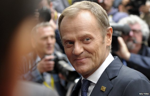 Polish PM Donald Tusk, 30 Aug 14