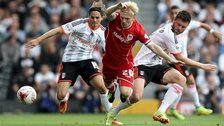Mats Moeller Daehli on the attack for Cardiff City against Fulham