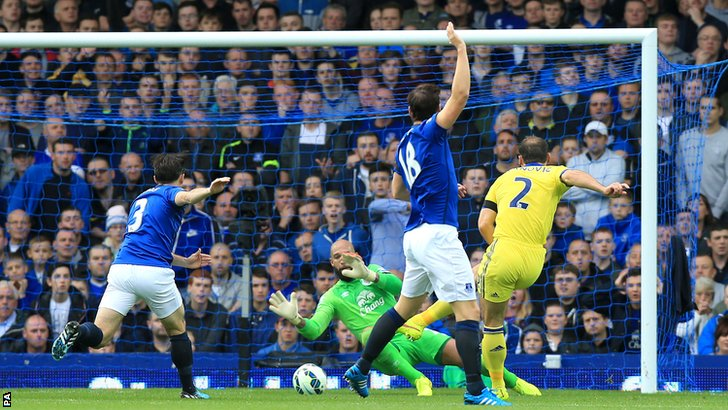 Branislav Ivanovic scores Chelsea's second goal