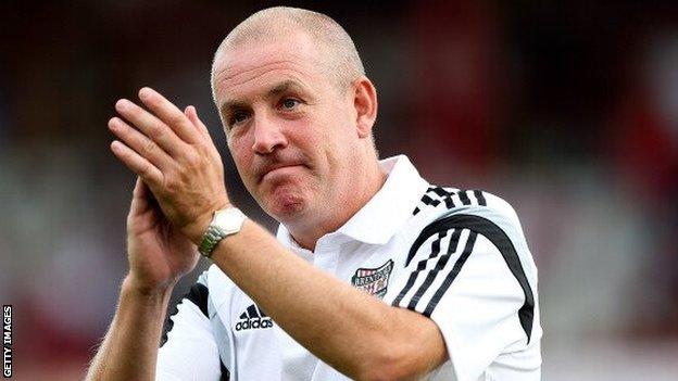 Brentford manager Mark Warburton