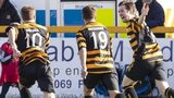Alloa Athletic players celebrating