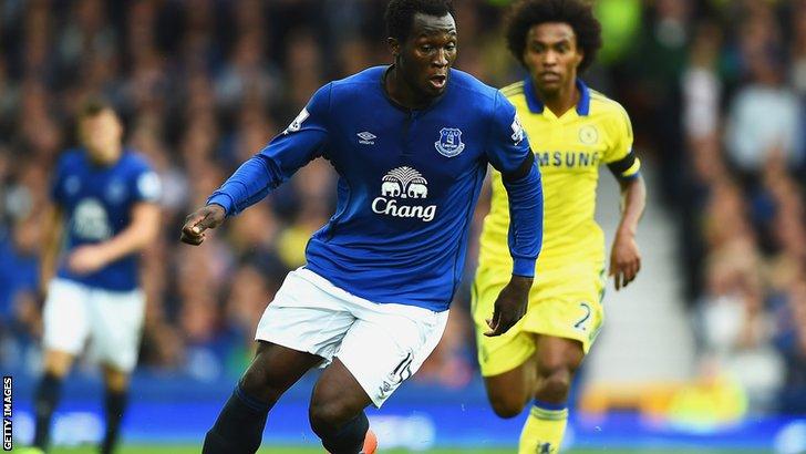 Romelu Lukaku in action for Everton