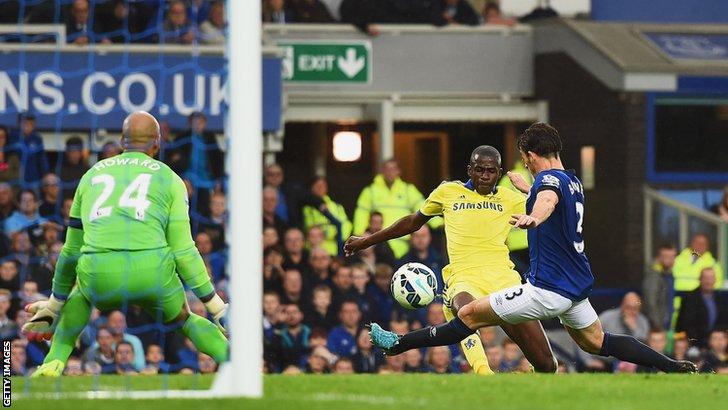 Ramires puts Chelsea 5-3 ahead against Everton