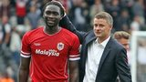 Kenwyne Jones and Ole Gunnar Solskjaer