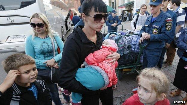 Ukrainian refugees in Russia
