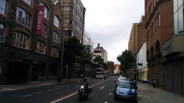 Upper Queen Street in Belfast city centre