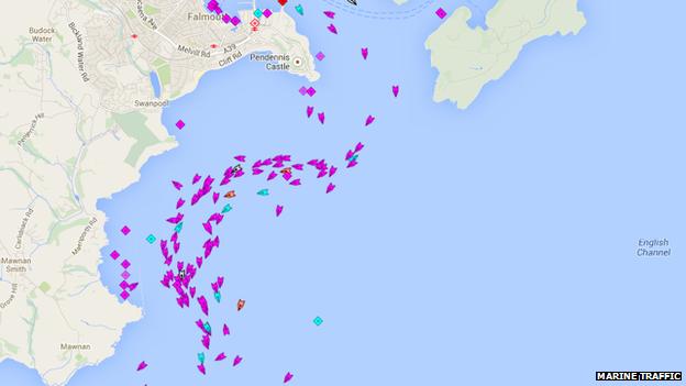 Marine Traffic screenshot