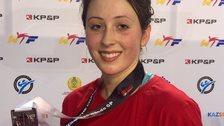 Jade Jones with her silver medal