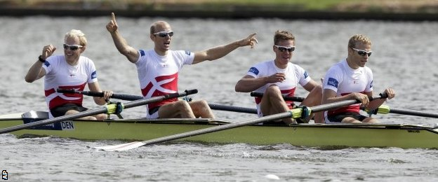 Denmark won the men's lightweight four, with GB finishing third