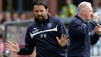 Dundee manager Paul Hartley during his side's 1-1 with Celtic