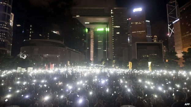 Pro-democracy rally in Hong Kong, 31 Aug