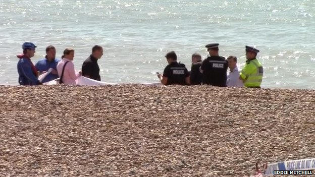 Body on Brighton beach