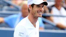 Andy Murray laughs at the US Ope