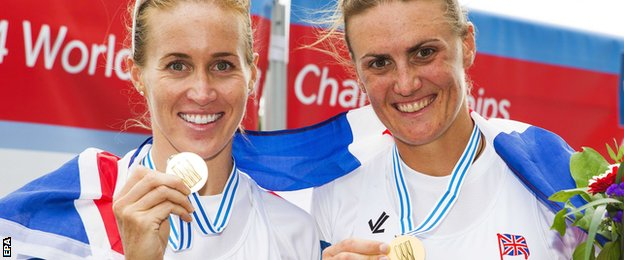 Helen Glover and Heather Stanning are reunited and continue their winning form after Stanning took time out of the sport
