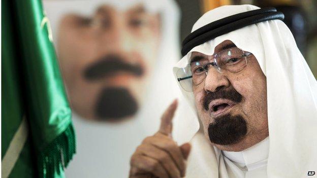 Saudi King Abdullah, file pic