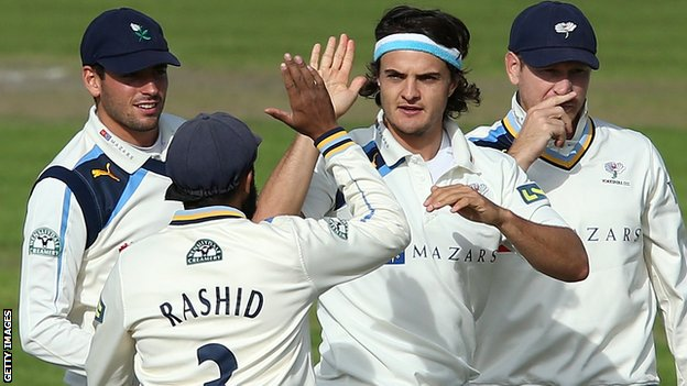 Jack Brooks took three wickets for Yorkshire