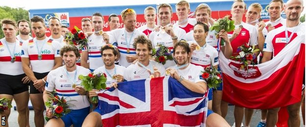 It was a day of celebration for the men's eight