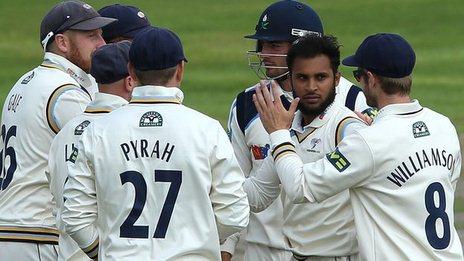 Adil Rashid took three wickets for Yorkshire