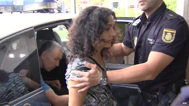 Ashya King's parents arriving at a court in Velez Malaga