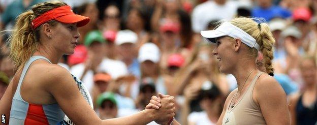 Caroline Wozniacki and Maria Sharapova