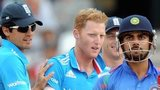 England's Alastair Cook and Ben Stokes with India's Virat Kohli
