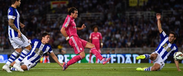 Gareth Bale scores for Real Madrid