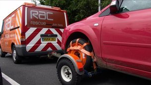 RAC rescue vehicle