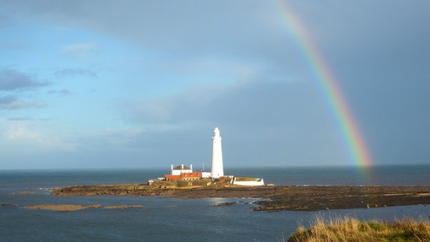 Rainbow at St Mary's Lighthouse