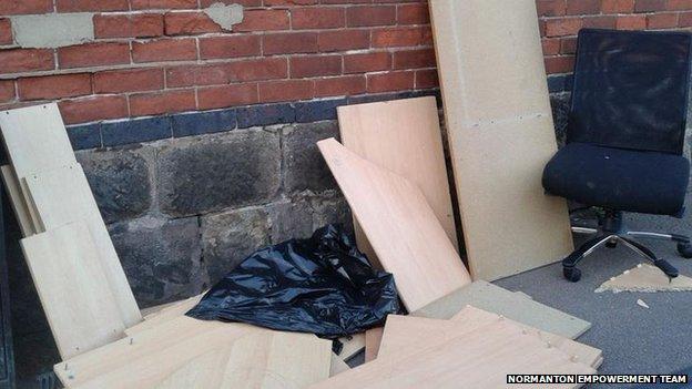Normanton dumped waste