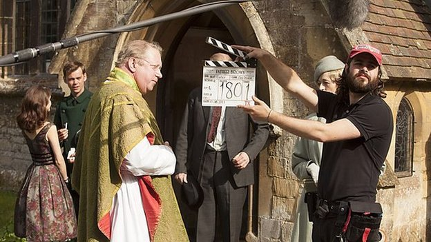 Father Brown being filmed
