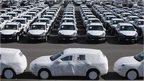 Porsche cars ready for export