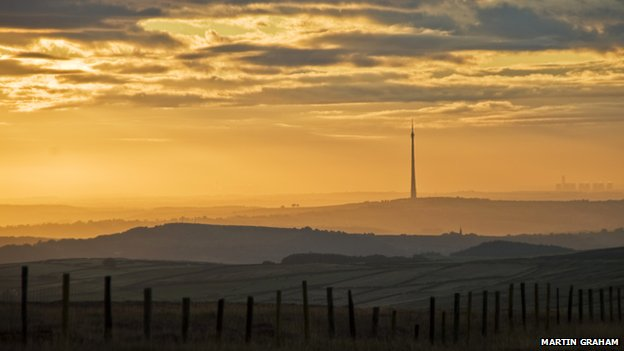 Sunrise over Emley Moor
