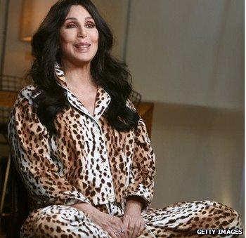 Cher in PJs