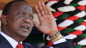 Kenya's President Uhuru Kenyatta addresses the nation at Nyayo national stadium in Nairobi, 1 June 2014