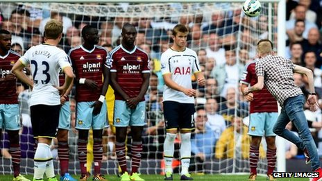 Free kick taken against West Ham