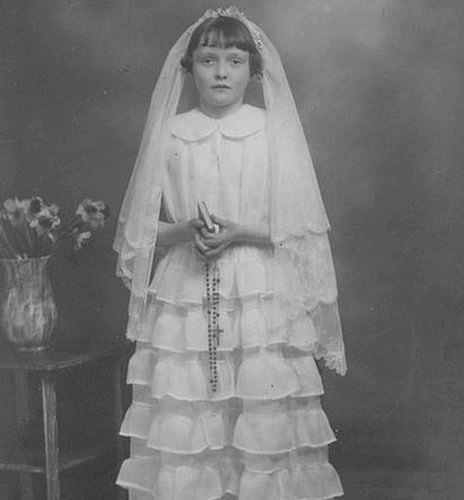 A first communion photograph from yesteryear