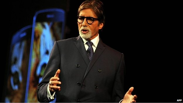 Bollywood actor Amitabh Bachchan speaks during a promotional event in Mumbai on July 21, 2014.